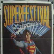 Cine: QQ45 SUPERMAN CHRISTOPHER REEVE SUPERFESTIVAL TRILOGIA POSTER ORIGINAL 70X100 ESTRENO. Lote 127451111