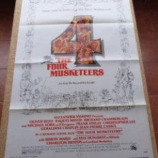 Cine: THE FOUR MUSKETEERS PÓSTER ORIGINAL DE LA PELÍCULA, ORIGINAL, DOBLADO, AÑO 1975, HECHO EN U.S.A.. Lote 46051875
