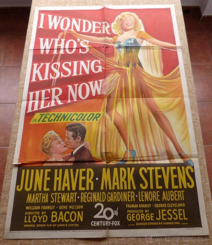 I WONDER WHO´S KISSING HER NOW PÓSTER ORIGINAL DE LA PELÍCULA, ORIGINAL, DOBLADO, AÑO 1947, U.S.A. (Cine - Posters y Carteles - Musicales)