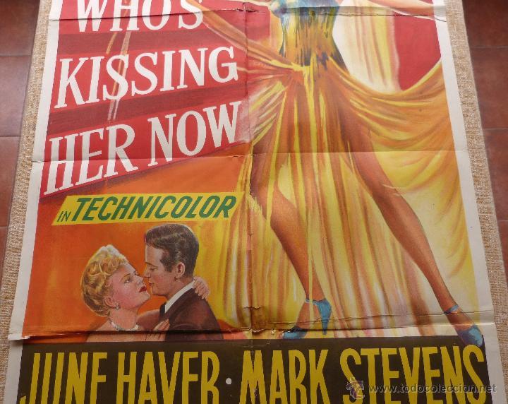 Cine: I Wonder Who´s Kissing Her Now Póster original de la película, Original, Doblado, año 1947, U.S.A. - Foto 4 - 46053327