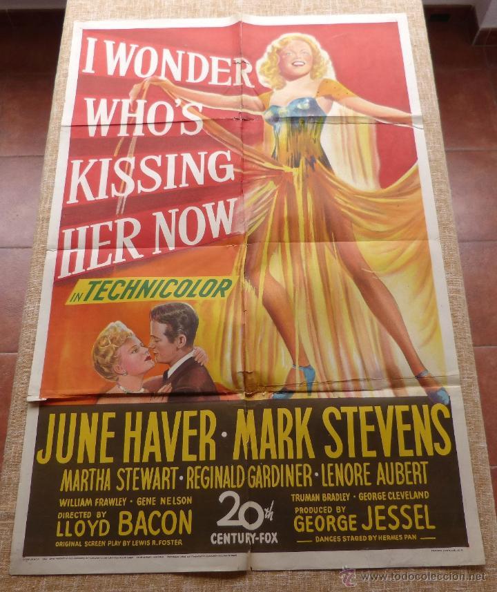 Cine: I Wonder Who´s Kissing Her Now Póster original de la película, Original, Doblado, año 1947, U.S.A. - Foto 6 - 46053327