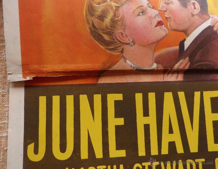 Cine: I Wonder Who´s Kissing Her Now Póster original de la película, Original, Doblado, año 1947, U.S.A. - Foto 11 - 46053327
