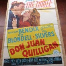 Cine: DON JUAN QUILLIGAN PÓSTER ORIGINAL DE LA PELÍCULA, ORIGINAL, DOBLADO, AÑO 1945, HECHO EN U.S.A.. Lote 46054169