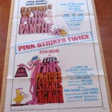 Cine: PINK PANTHER STRIKES AGAIN / REVENGE OF THE PINK PANTHER PÓSTER ORIGINAL DE LA PELÍCULA, AÑO 1975. Lote 46086199