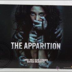 Cine: CARTÓN / CARTEL DE VIDEOCLUB - THE APPARITION - MEDIDAS 50 X 39,5 CM. Lote 46092775