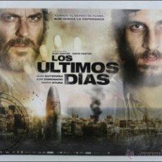 Cine: CARTÓN / CARTEL DE VIDEOCLUB - LOS ÚLTIMOS DÍAS - JOSÉ CORONADO/QUIM GUTIÉRREZ -MEDIDAS 50 X 39,5 CM. Lote 46093187