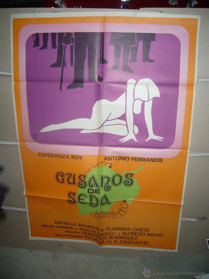 GUSANOS DE SEDA ESPERANZA ROY ANTONIO FERRANDIS POSTER ORIGINAL 70X100 YY (838) (Cine - Posters y Carteles - Clasico Español)