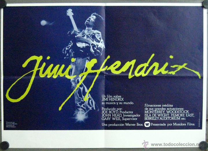 VH79 JIMI HENDRIX JIMMY HENDRIX POSTER ORIGINAL 50X70 ESTRENO (Cine - Posters y Carteles - Musicales)