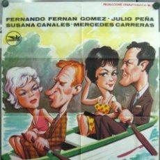 Cine: VH83 LA MUJER DE TU PROJIMO FERNANDO FERNAN GOMEZ POSTER ORIGINAL ESTRENO 70X100. Lote 46182692