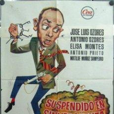 Cine: VH86 SUSPENDIDO EN SINVERGÜENZA JOSE LUIS ANTONIO MARIANO OZORES POSTER ORIGINAL ESTRENO 70X100. Lote 46182943