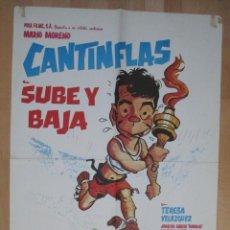 Cine: CARTEL CINE, SUBE Y BAJA, CANTINFLAS, MARIO MORENO, TERESA VELAZQUEZ, C172. Lote 46193719