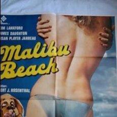 Cine: PÓSTER ORIGINAL MALIBÚ BEACH (1979). Lote 46240328