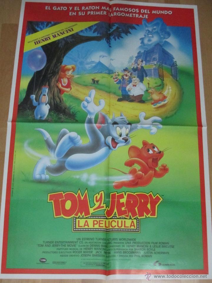 CARTEL CINE, TOM Y JERRY, LA PELICULA, 1992, C212 (Cine - Posters y Carteles - Infantil)