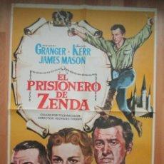 Cine: CARTEL CINE, EL PRISIONERO DE ZENDA, STEWART GRANGER, DEBORAH KERR, 1979, C234. Lote 46264859