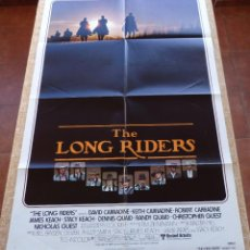 Cine: THE LONG RIDERS PÓSTER ORIGINAL DE LA PELÍCULA, ORIGINAL, DOBLADO, ADVANCE, AÑO 1980, HECHO EN U.S.A. Lote 46329291