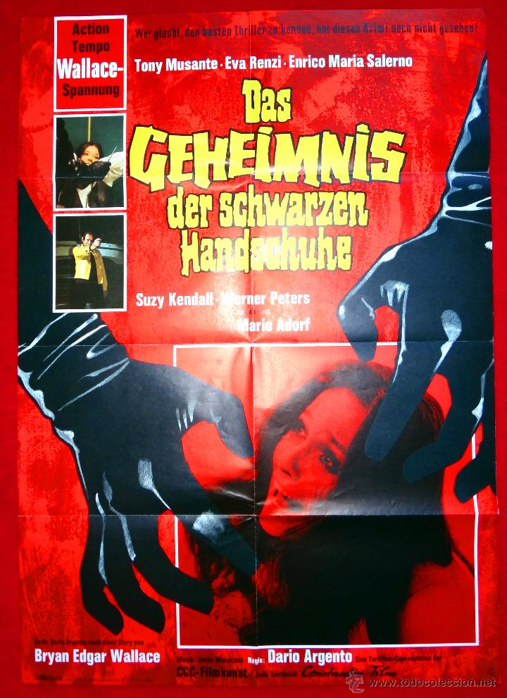 EL PAJARO DE LAS PLUMAS DE CRISTAL (CARTEL ORIGINAL ALEMAN) TERROR DARIO ARGENTO (Cine - Posters y Carteles - Terror)