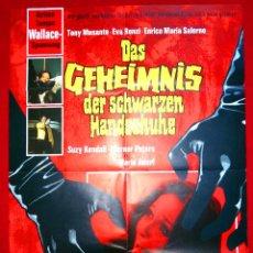 Cine: EL PAJARO DE LAS PLUMAS DE CRISTAL (CARTEL ORIGINAL ALEMAN) TERROR DARIO ARGENTO. Lote 46405162