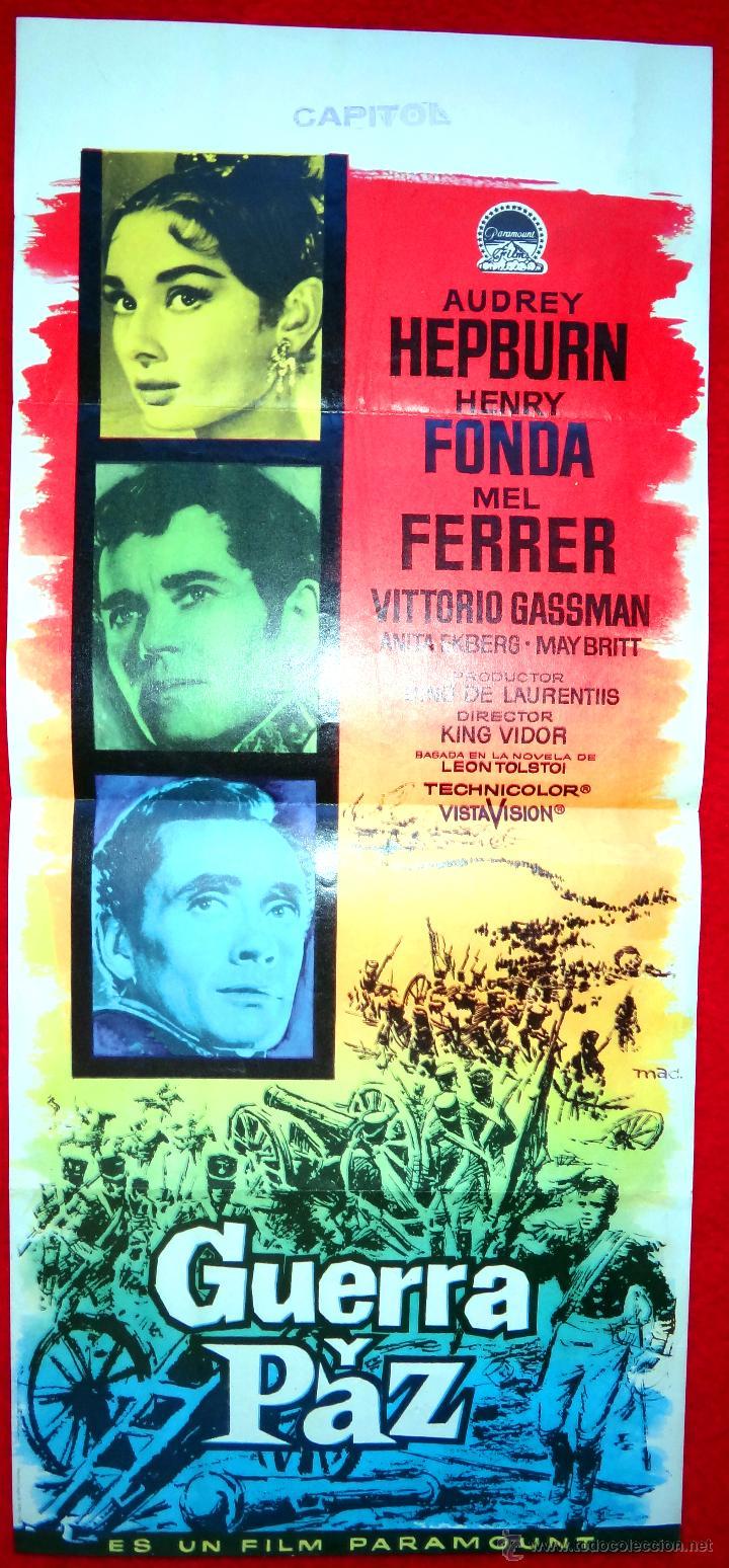 GUERRA Y PAZ (CARTEL ORIGINAL) AUDREY HEPBURN - HENRY FONDA - MEL FERRER (Cine - Posters y Carteles - Aventura)