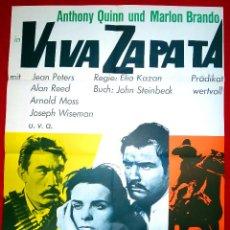Cine: VIVA ZAPATA (CARTEL ORIGINAL) MARLON BRANDO - ANTHONY QUINN - JEAN PETER. Lote 46405737