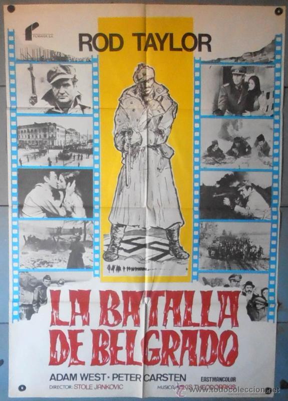 (11915)LA BATALLA DE BELGRADO, CARTEL DE CINE ORIGINAL 70X100 APROX,CONSERVACION,VER FOTO (Cine - Posters y Carteles - Bélicas)