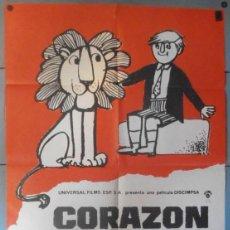 Cine: (12302)CORAZÓN DE LEÓN, CARTEL DE CINE ORIGINAL 70X100 APROX,CONSERVACION,VER FOTO . Lote 46509720