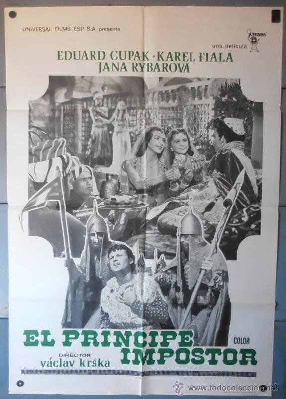 (12443)EL PRÍNCIPE IMPOSTOR, CARTEL DE CINE ORIGINAL 70X100 APROX,CONSERVACION,VER FOTO (Cine - Posters y Carteles - Acción)