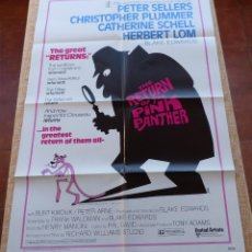 Cine: THE RETURN OF THE PINK PANTHER PÓSTER ORIGINAL DE LA PELÍCULA, DOBLADO, ESTILO A, AÑO 1975, U.S.A.. Lote 46551726