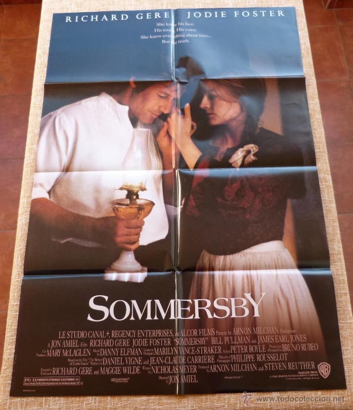 SOMMERSBY PÓSTER ORIGINAL DE LA PELÍCULA, ORIGINAL, DOBLADO, AÑO 1993, HECHO EN U.S.A., RICHARD GERE (Cine- Posters y Carteles - Drama)