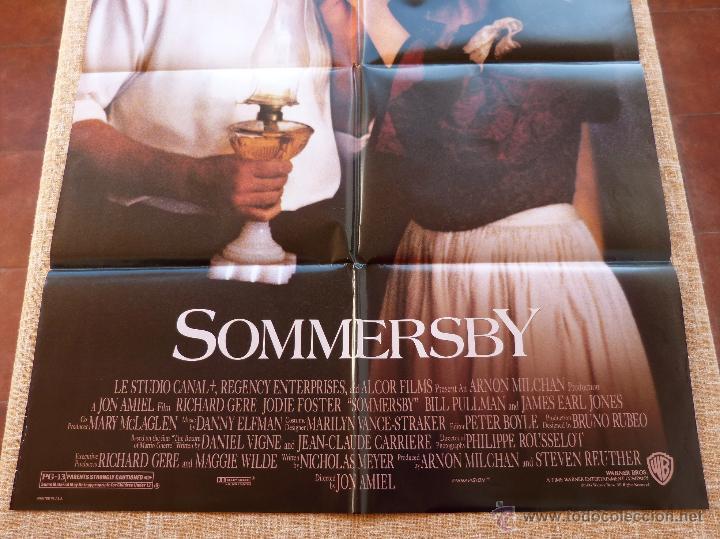 Cine: Sommersby Póster original de la película, Original, Doblado, año 1993, Hecho en U.S.A., Richard Gere - Foto 5 - 46552584