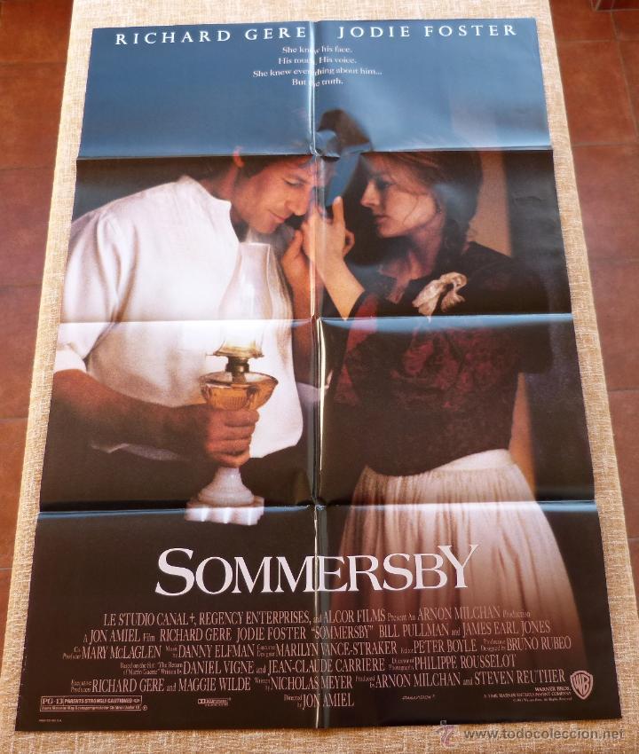 Cine: Sommersby Póster original de la película, Original, Doblado, año 1993, Hecho en U.S.A., Richard Gere - Foto 6 - 46552584