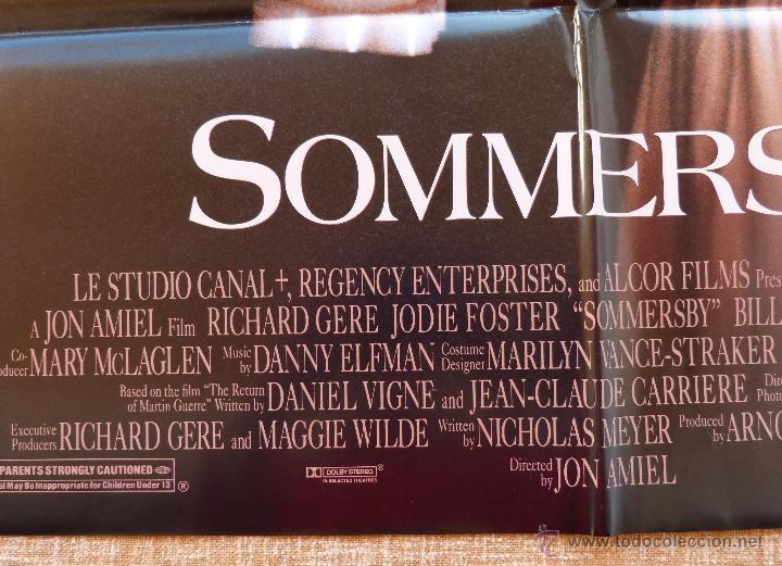 Cine: Sommersby Póster original de la película, Original, Doblado, año 1993, Hecho en U.S.A., Richard Gere - Foto 7 - 46552584