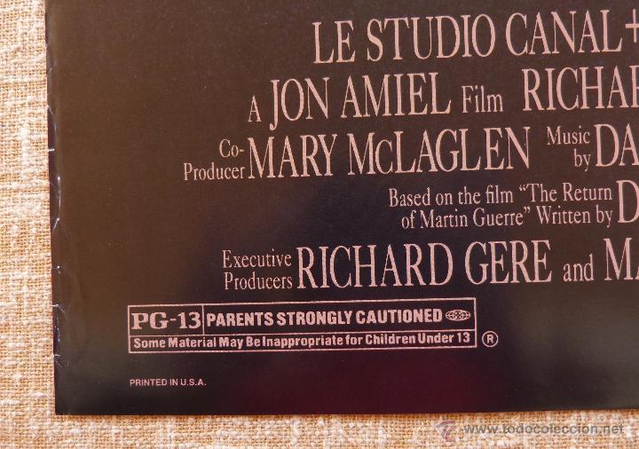 Cine: Sommersby Póster original de la película, Original, Doblado, año 1993, Hecho en U.S.A., Richard Gere - Foto 8 - 46552584