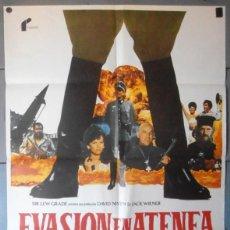 Cinema: (12606)EVASIÓN EN ATENEA, CARTEL DE CINE ORIGINAL 70X100 APROX,CONSERVACION,VER FOTO . Lote 46554432