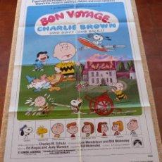 Cine: BON VOYAGE CHARLIE BROWN PÓSTER ORIGINAL DE LA PELÍCULA, ORIGINAL, DOBLADO, AÑO 1980, HECHO EN USA. Lote 46555422