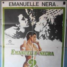 Cine: (12677)EMANUELLE NEGRA Nº 2, CARTEL DE CINE ORIGINAL 70X100 APROX,CONSERVACION,VER FOTO . Lote 46557369