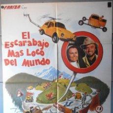 Cine: (12703)EL ESCARABAJO MÁS LOCO DEL MUNDO, CARTEL DE CINE ORIGINAL 70X100 APROX,CONSERVACION,VER FOTO . Lote 46557451