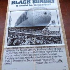 Cine: BLACK SUNDAY PÓSTER ORIGINAL DE LA PELÍCULA, ORIGINAL, DOBLADO, AÑO 1977, HECHO EN U.S.A., BRUCE DER. Lote 46560354