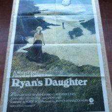 Cine: RYAN´S DAUGHTER PÓSTER ORIGINAL DE LA PELÍCULA, ESTILO A, ORIGINAL, DOBLADO, AÑO 1970, HECHO EN USA. Lote 46567751