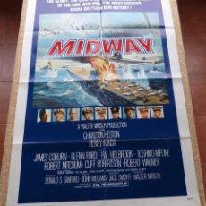 Cine: MIDWAY PÓSTER ORIGINAL DE LA PELÍCULA, ORIGINAL, DOBLADO, AÑO 1976, HECHO EN U.S.A., ESTILO B, USADO. Lote 46597830