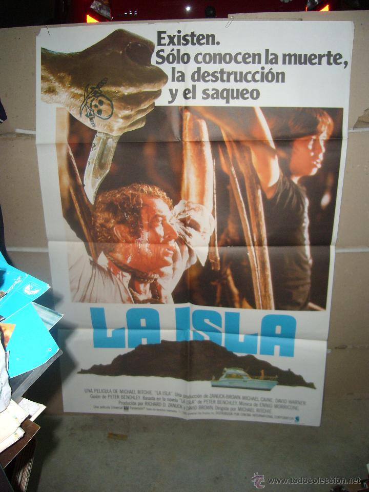 LA ISLA MICHAEL CAINE POSTER ORIGINAL 70X100 YY(875) (Cine - Posters y Carteles - Terror)