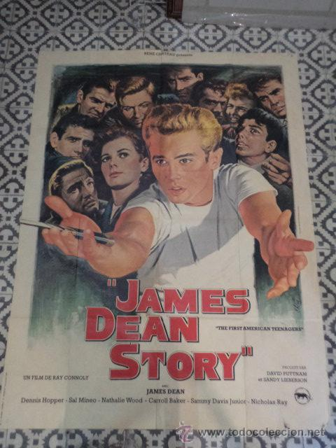 GRAN CARTEL FRANCÉS JAMES DEAN STORY THE FIRST AMERICAN TEENAGER (Cine - Posters y Carteles - Documentales)