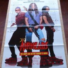Cine: AIRHEADS PÓSTER ORIGINAL DE LA PELÍCULA, ORIGINAL, DOBLADO, AÑO 1994, DOBLE CARA, ESTILO B, U.S.A.. Lote 46793782