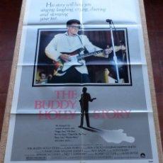 Cine: THE BUDDY HOLLY STORY PÓSTER ORIGINAL DE LA PELÍCULA, ORIGINAL, DOBLADO, AÑO 1978, HECHO EN U.S.A.. Lote 46794245