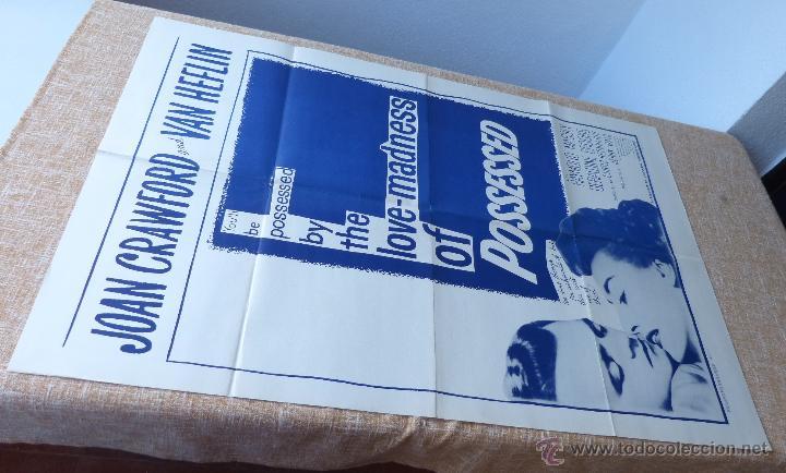 Cine: Possessed Póster original de la película, Doblado, Reproducción del año 1956, U.S.A., Póster usado - Foto 2 - 46796105