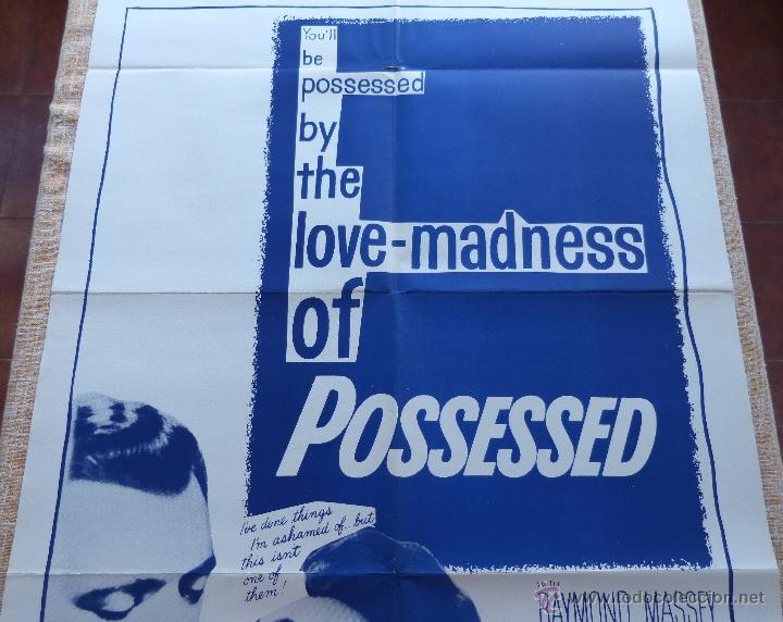 Cine: Possessed Póster original de la película, Doblado, Reproducción del año 1956, U.S.A., Póster usado - Foto 4 - 46796105