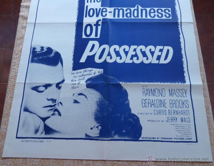 Cine: Possessed Póster original de la película, Doblado, Reproducción del año 1956, U.S.A., Póster usado - Foto 5 - 46796105