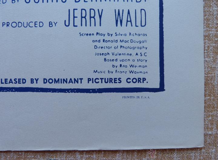 Cine: Possessed Póster original de la película, Doblado, Reproducción del año 1956, U.S.A., Póster usado - Foto 8 - 46796105