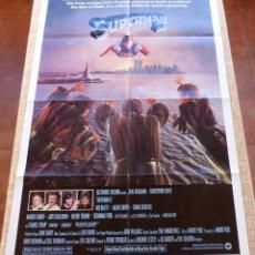 Cine: SUPERMAN II PÓSTER ORIGINAL DE LA PELÍCULA, ORIGINAL, DOBLADO, AÑO 1981, HECHO EN U.S.A., USADO. Lote 46796743