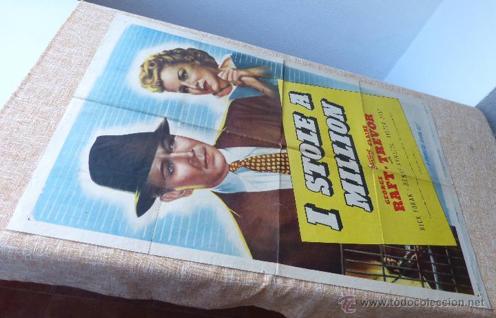 Cine: I Stole a Million Póster original de la película, Original, Doblado, año R1947, Hecho en USA, Usado - Foto 2 - 46797799