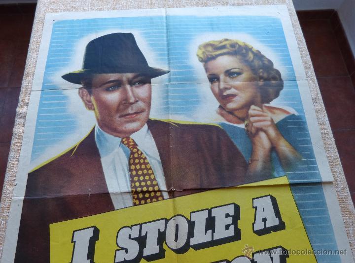 Cine: I Stole a Million Póster original de la película, Original, Doblado, año R1947, Hecho en USA, Usado - Foto 3 - 46797799